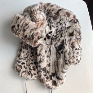 Betsey Johnson Fur Trapper Hat